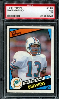 1984 Topps Football #123 Dan Marino Rookie PSA 7 (NM) *4023