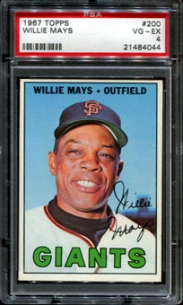 1967 Topps Baseball #200 Willie Mays PSA 4 (VG-EX) *4044