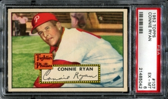 1952 Topps Baseball #107 Connie Ryan PSA 6 (EX-MT) *5042
