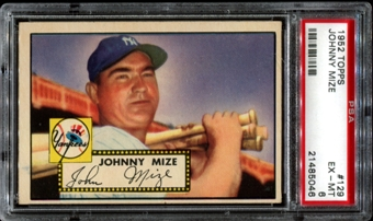 1952 Topps Baseball #129 Johnny Mize PSA 6 (EX-MT) *5046