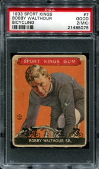 1933 Sport Kings #7 Bobby Walthour (Bicycling) PSA 2 (GOOD) (MK) *5075