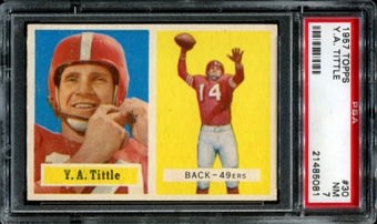 1957 Topps Football #30 Y.A. Tittle PSA 7 (NM) *5081