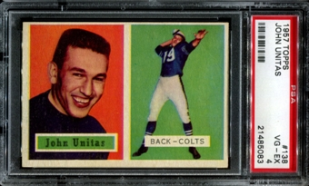 1957 Topps Football #138 Johnny Unitas Rookie PSA 4 (VG-EX) *5083