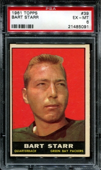 1961 Topps Football #39 Bart Starr PSA 6 (EX-MT) *5091