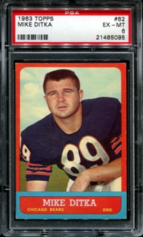 1963 Topps Football #62 Mike Ditka PSA 6 (EX-MT) *5095