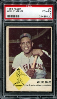 1963 Fleer Baseball #5 Willie Mays PSA 4 (VG-EX) *5120