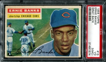 1956 Topps Baseball #15 Ernie Banks PSA 3 (VG) (MC) *1574
