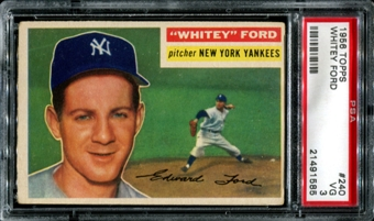 1956 Topps Baseball #240 Whitey Ford PSA 3 (VG) *1585