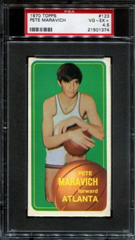 1970/71 Topps Basketball #123 Pete Maravich Rookie PSA 4.5 (VG-EX+) *1374