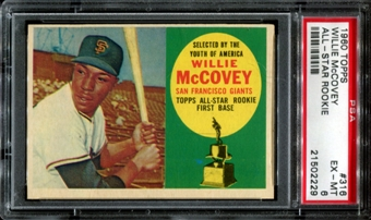 1960 Topps Baseball #316 Willie McCovey Rookie PSA 6 (EX-MT) *2229