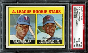 1967 Topps Baseball #569 Rod Carew Rookie PSA 8 (NM-MT) (OC) *2239