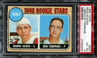 1968 Topps Baseball #247 Johnny Bench Rookie PSA 4 (VG-EX) *2240