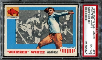 1955 Topps All American Football #21 Whizzer White Rookie PSA 6 (EX-MT) *3846