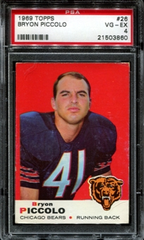 1969 Topps Football #26 Brian Piccolo Rookie PSA 4 (VG-EX) *3860