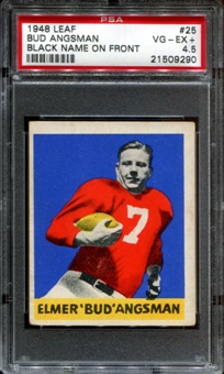 1948 Leaf Football #25 Bud Angsman Rookie PSA 4.5 (VG-EX+) *9290
