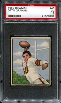 1950 Bowman Football #45 Otto Graham Rookie PSA 3 (VG) *9297