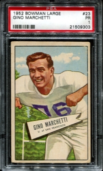 1952 Bowman Large Football #5 Gino Marchetti Rookie PSA 1 (PR) *9303
