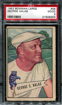 1952 Bowman Large Football #48 George Halas PSA 2 (GOOD) *9304