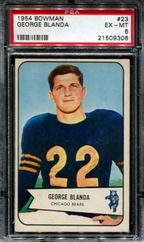 1954 Bowman Football #23 George Blanda Rookie PSA 6 (EX-MT) *9306