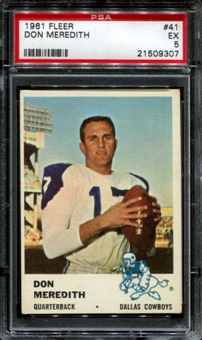 1961 Fleer Football #41 Don Meredith Rookie PSA 5 (EX) *9307