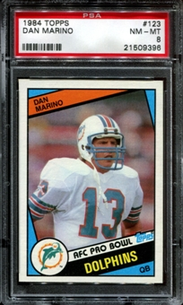 1984 Topps Football #123 Dan Marino Rookie PSA 8 (NM-MT) *9396