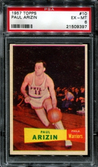 1957/58 Topps Basketball #10 Paul Arizin PSA 6 (EX-MT) *9397