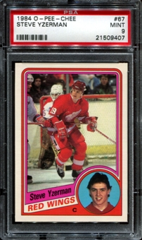 1984/85 O-Pee-Chee Hockey #67 Steve Yzerman Rookie PSA 9 (MINT) *9407