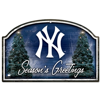 Wincraft New York Yankees Season's Greetings Wood Sign - 11x17