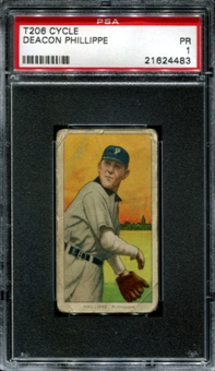 1909-11 T206 Cycle Deacon Phillippe PSA 1 (PR) *4483