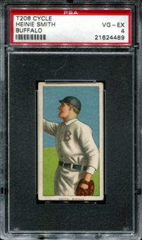 1909-11 T206 Cycle Heinie Smith (Buffalo) PSA 4 (VG-EX) *4489
