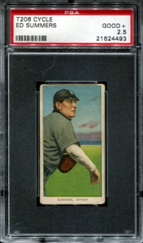 1909-11 T206 Cycle Ed Summers PSA 2.5 (GOOD+) *4493