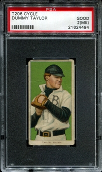 1909-11 T206 Cycle Dummy Taylor PSA 2 (GOOD) (MK) *4494