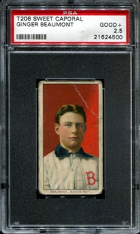 1909-11 T206 Sweet Caporal Ginger Beaumont PSA 2.5 (GOOD+) *4500