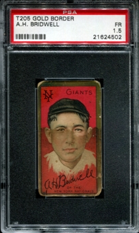 1911 T205 Gold Border Cycle Al Bridwell PSA 1.5 (FR) *4502