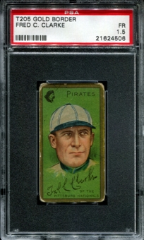 1911 T205 Gold Border Cycle Fred Clarke PSA 1.5 (FR) *4506