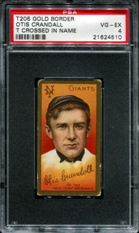 1911 T205 Gold Border Cycle Otis Crandall (T Crossed In Name) PSA 4 (VG-EX) *4510