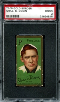 1911 T205 Gold Border Cycle Red Dooin PSA 2 (GOOD) *4515