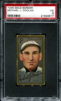 1911 T205 Gold Border Cycle Michael Doolan PSA 3 (VG) *4517
