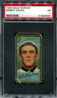 1911 T205 Gold Border Cycle Robert Ewing PSA 1 (PR) *4523