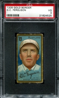1911 T205 Gold Border Cycle Cecil Ferguson PSA 3 (VG) *4525