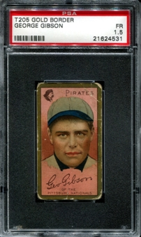 1911 T205 Gold Border Cycle George Gibson PSA 1.5 (FR) *4531