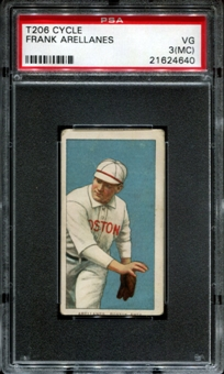 1909-11 T206 Cycle Frank Arellanes PSA 3 (VG) (MC) *4640
