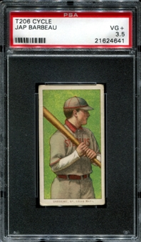 1909-11 T206 Cycle Jap Barbeau PSA 3.5 (VG+) *4641
