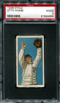 1909-11 T206 Cycle Otto Knabe PSA 2 (GOOD) *4688