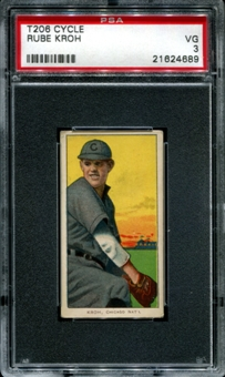 1909-11 T206 Cycle Rube Kroh PSA 3 (VG) *4689