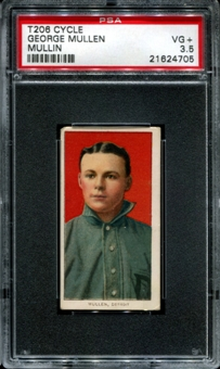 1909-11 T206 Cycle George Mullen (Mullin) PSA 3.5 (VG+) *4705