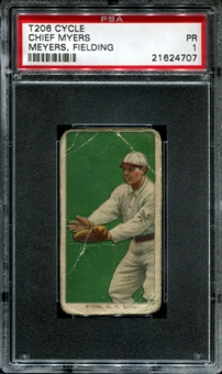 1909-11 T206 Cycle Chief Myers (Meyers - Fielding) PSA 1 (PR) *4707