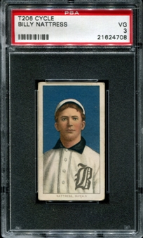 1909-11 T206 Cycle Billy Nattress PSA 3 (VG) *4708