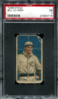 1909-11 T206 Cycle Bill Clymer PSA 1 (PR) *4715