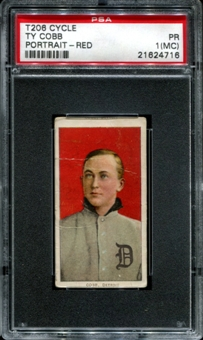 1909-11 T206 Cycle Ty Cobb (Red Portrait) PSA 1 (PR) (MC) *4716